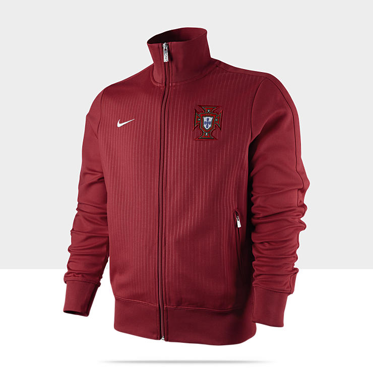 Veste de surv&ecirc;tement de football Portugal Authentic N98 pour Homme