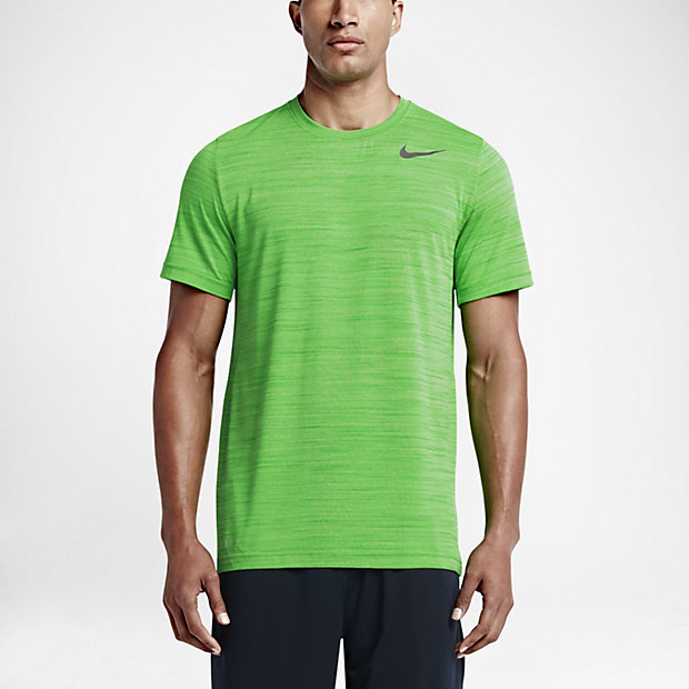 Nike Dri-FIT Touch Heathered Short-Sleeve