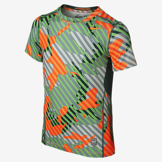 Nike Pro Combat Hypercool Fitted Woodland Graphic