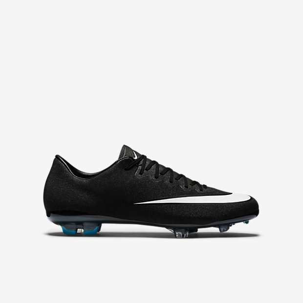 Black, Neo Turquoise, Space Blue, White Kids Mercurial Vapor X FG CR7