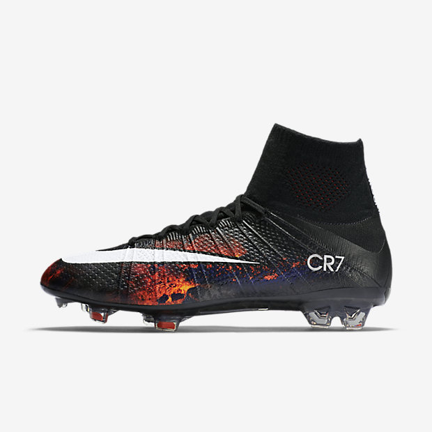 Black, Total Crimson, Vivid Purple, White Mercurial Superfly FG CR7