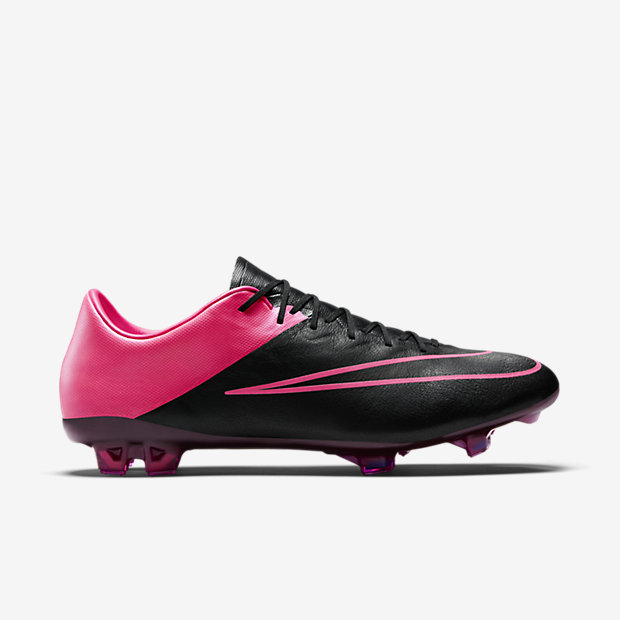 Black/Hyper Pink/Pink Pow Mercurial Vapor X Leather FG