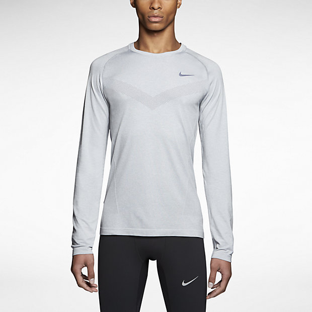 Nike Dri-FIT Knit Long-Sleeve – Maillot de running pour Homme