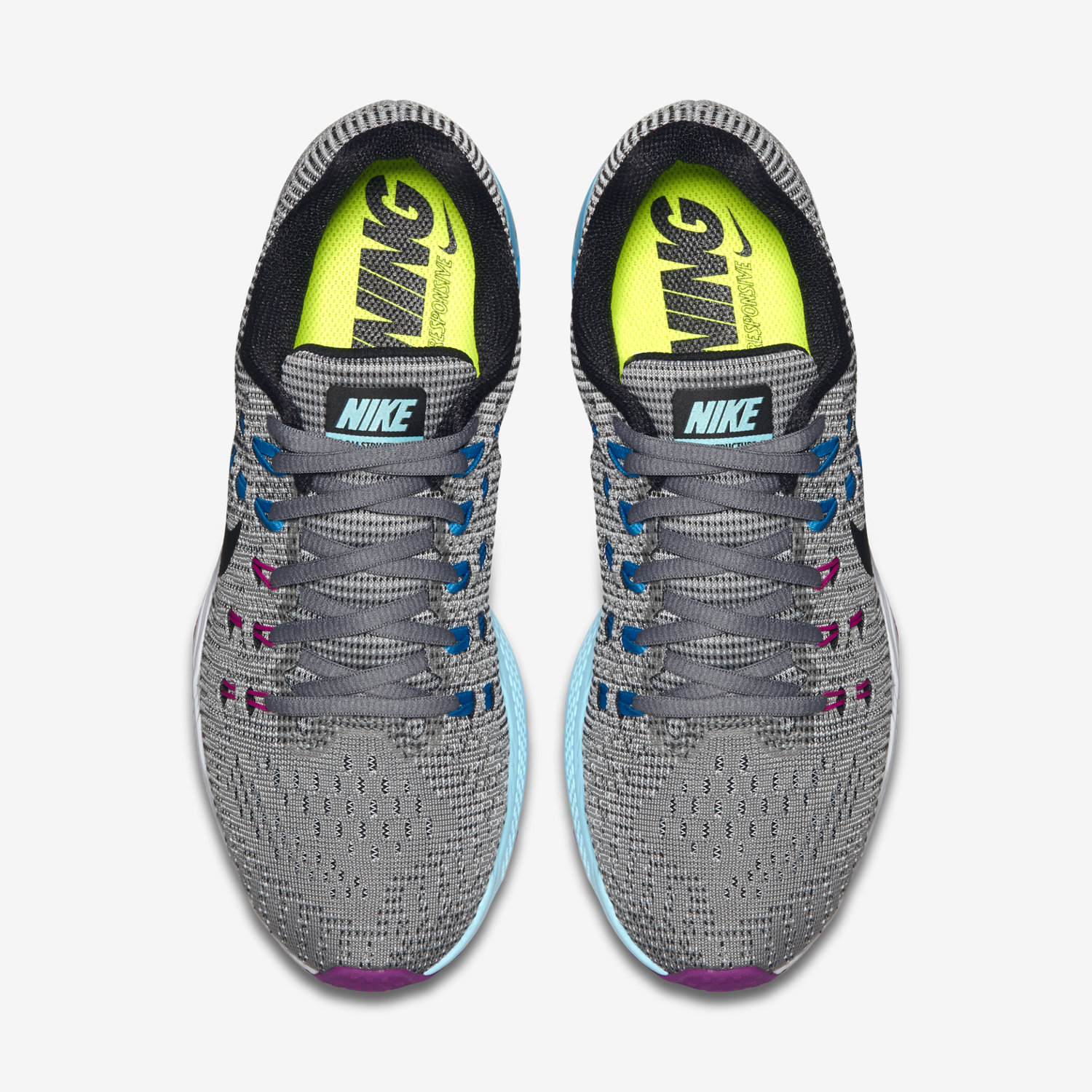 855455a25f44 ... nike zoom structure 19 womens sky blue green ...