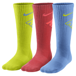 Nike Graphic Cotton Cushion Crew (8y-15y) Boys' Socks (3 Pair)