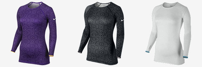Nike Pro Hyperwarm Fitted Printed Crew II