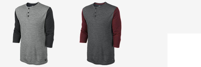 Nike Dri-FIT Wool 3/4-Sleeve Henley