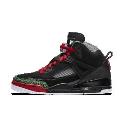 Мужские кроссовки Jordan SpizikeМужские кроссовки Jordan Spizike вдохновлены легендарной серией моделей: Jordan III, IV, V и VI. Отделка с принтом Elephant, вставки из решетчатой сетки, двойные вставки Nike Air и другиелегендарные элементы Jordan создают элегантную модель, вдохновленную Спайком Ли и сочетанием голливудского и баскетбольного стилей.  Преимущества  Верх из натуральной и синтетической кожи с боковыми вставками из сетки для комфорта и воздухопроницаемости Подошва из материала PU со вставками Nike Air в области пятки и передней части стопы для превосходной амортизации Резиновая подметка для оптимального сцепления и прочности  Истоки Air Jordan  С момента своего победного броска, принесшего команде Северной Каролины чемпионский титул, Майкл Джордан превратился в легенду баскетбола. В 1985 году он вышел на площадку в оригинальных Air Jordan I и задал новый стандарт функциональности и стиля, одновременно нарушая правила лиги, обескураживая соперников и завоевывая сердца поклонников по всему миру.<br>
