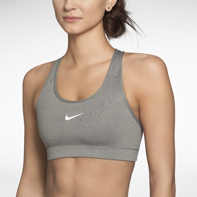 Nike Pro Sujetador deportivo de sujeción media - Mujer - Gris