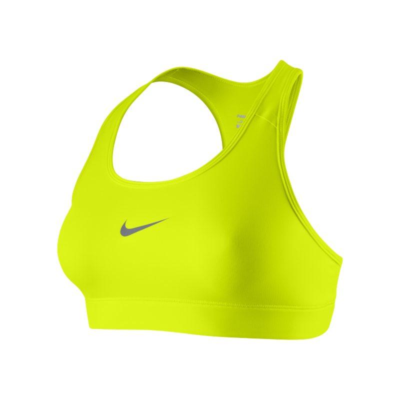 Nike Pro Sujetador deportivo de sujeción media - Mujer - Amarillo