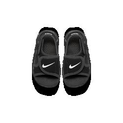 Сандалии для малышей Nike Sunray Adjust 4Сандалии для малышей Nike Sunray Adjust 4 быстро сохнут и обеспечивают комфорт благодаря верху из синтетической ткани и легкой подошве из пеноматериала Phylon. Идеальный вариант для купания и пляжа.<br>