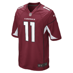 Мужское джерси для американского футбола NFL Arizona Cardinals (Larry Fitzgerald)Rep your favorite team and player anytime in the NFL Arizona Cardinals Game Jersey, inspired by what theyre wearing on the field and designed for total comfort.  TAILORED FIT  This jersey features a tailored fit designed for movement.  LIGHT, SOFT FEEL  Screen-print numbers provide a light and soft feel.  CLEAN COMFORT  The no-tag neck label offers clean comfort.<br>