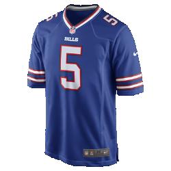 Мужское джерси для американского футбола NFL Buffalo Bills Game (Tyrod Taylor)Болей за любимую команду в джерси NFL Buffalo Bills, вдохновленном настоящей игровой формой, и сохраняй абсолютный комфорт.  Продуманный крой  Продуманный крой обеспечивает комфортную посадку и позволяет создать современный образ.  Мягкость  Силиконовый принт с номером устойчив к повреждениям и не утяжеляет джерси.  Абсолютный комфорт  Отсутствие этикетки под воротником для дополнительного комфорта.<br>