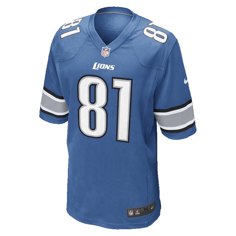 Image For Maillot de football américain domicile NFL Detroit Lions (Calvin Johnson) pour Homme