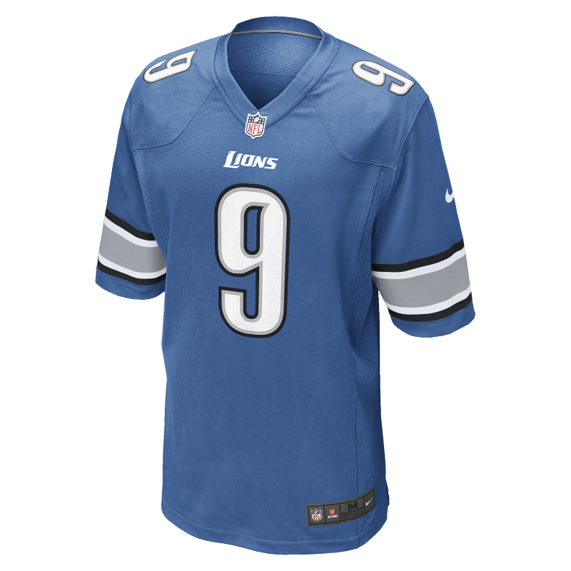 Image For NFL Detroit Lions (Matthew Stafford) Men's American Football Home Game Jersey