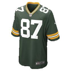 Мужское джерси для американского футбола для игры на своем поле NFL Green Bay Packers (Jordy Nelson)Болей за любимую команду в джерси NFL Green Bay Packers, созданном под вдохновением от игры ее лучших игроков, и сохраняй абсолютный комфорт.  Продуманный крой  Продуманный крой обеспечивает комфортную посадку и позволяет создать современный образ.  Мягкость  Силиконовый принт с номером устойчив к повреждениям и не утяжеляет джерси.  Абсолютный комфорт  Отсутствие этикетки под воротником для дополнительного комфорта.<br>