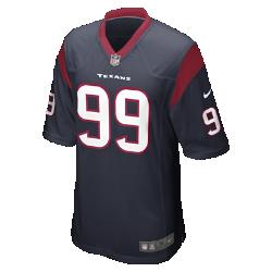 Мужское джерси в расцветке домашней формы NFL Houston Texans (J.J. Watt)Болей за любимую команду в джерси NFL Houston Texans, вдохновленном настоящей игровой формой, и сохраняй абсолютный комфорт.  ПРОДУМАННЫЙ КРОЙ  Продуманный крой джерси обеспечивает полную свободу движений.  МЯГКОСТЬ  Номер игрока, выполненный в технике термопечати, приятен на ощупь.  АБСОЛЮТНЫЙ КОМФОРТ  Отсутствие этикетки под воротником для дополнительного комфорта.  Подробнее   Продуманное расположение зон вентиляции Тканая этикетка слева внизу Эмблема клуба из материала TPU на V-образном вырезе   Состав: 100% переработанный полиэстер Машинная стирка Импорт<br>