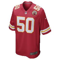 Мужское джерси для американского футбола в расцветке домашней формы NFL Kansas City Chiefs (Justin Houston)Болей за любимую команду в джерси NFL Kansas City Chiefs, вдохновленном настоящей игровой формой, и сохраняй абсолютный комфорт. Продуманный крой  Продуманный крой джерси обеспечивает полную свободу движений. Мягкость  Номер игрока, выполненный в технике термопечати, приятен на ощупь. Абсолютный комфорт  Отсутствие этикетки под воротником для дополнительного комфорта. Подробнее  Продуманное расположение зон вентиляции Тканая этикетка слева внизу Эмблема клуба из материала TPU на V-образном вырезе Состав: 100% переработанный полиэстер Машинная стирка<br>