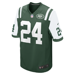 NFL New York Jets (Darrelle Revis) Men's American Football Home Game Jersey