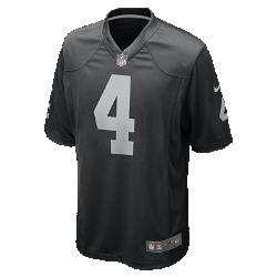 Мужское джерси в расцветке домашней формы NFL Oakland Raiders (Derek Carr)Болей за любимую команду в джерси NFL Oakland Raiders, вдохновленном настоящей игровой формой, и сохраняй абсолютный комфорт.  Продуманный крой  Продуманный крой обеспечивает комфортную посадку и позволяет создать современный образ.  Мягкость  Силиконовый принт с номером устойчив к повреждениям и не утяжеляет джерси  Абсолютный комфорт  Отсутствие этикетки под воротником обеспечивает дополнительный комфорт.<br>