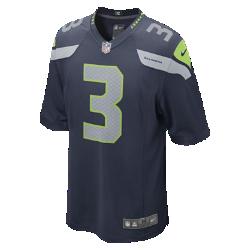 Мужская джерси для американского футбола для игры на своем поле NFL Seattle Seahawks (Russell Wilson)Болей за любимую команду в джерси NFL Seattle Seahawks Game Jersey, созданной под вдохновением от игры ее лучших игроков, и сохраняй абсолютный комфорт.<br>