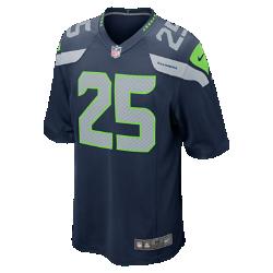 Мужская джерси для американского футбола для игры на своем поле NFL Seattle Seahawks (Richard Sherman)Болей за любимую команду в джерси NFL Seattle Seahawks Game Jersey, созданной под вдохновением от игры ее лучших игроков, и сохраняй абсолютный комфорт.<br>