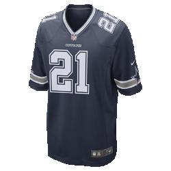 Мужское джерси для американского футбола NFL Dallas Cowboys Game (Ezekiel Elliott)Болей за любимую команду в джерси NFL Dallas Cowboys Game Jersey, которое создано под вдохновением от игры лучших игроков и обеспечивает абсолютный комфорт.  Продуманный крой  Продуманный крой обеспечивает комфортную посадку и позволяет создать современный образ.  Легкость и мягкость  Силиконовый принт с номером устойчив к повреждениям и не утяжеляет джерси.  Абсолютный комфорт  Отсутствие этикетки под воротником для дополнительного комфорта.<br>