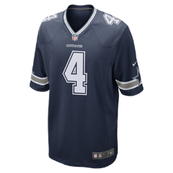NFL Dallas Cowboys Game (Dak Prescott) Men's American Football Jersey