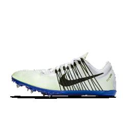 Шиповки унисекс для бега на средние дистанции Nike Zoom Victory EliteМужские шиповки для бега на средние дистанции Nike Zoom Victory Elite предназначены для забегов от 800 до 5 000 м. Обновленная конструкция язычка и двухкомпонентная подошва из углеволокна обеспечивают жесткость и упругость.<br>