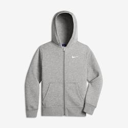 Худи для мальчиков (8–15) Nike Brushed Fleece Full-ZipХуди для мальчиков (8–15) Nike Brushed Fleece Full-Zip изготовлена из мягкой смесовой ткани на основе хлопка с рубчатой отделкой для комфортной посадки и защиты от холода.<br>
