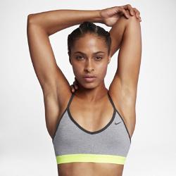 Спортивное бра с легкой поддержкой Nike IndyСпортивное бра Nike Indy обеспечивает легкую поддержку, удобную посадку и отведение влаги и подходит для занятий с низкой нагрузкой, например для ходьбы, силовых тренировок и йоги.  Комфорт  Технология Dri-FIT обеспечивает прохладу и комфорт, выводя влагу на поверхность ткани, откуда она быстро испаряется.  Стильная поддержка  Утягивающие чашки со съемными вкладышами обеспечивают легкую поддержку и повторяют изгибы тела.  Идеальная посадка  Т-образная спина с тонкими регулируемыми эластичными бретелями обеспечивает оптимальную свободу движений и позволяет идеально подобрать низкопрофильную посадкупо фигуре.<br>