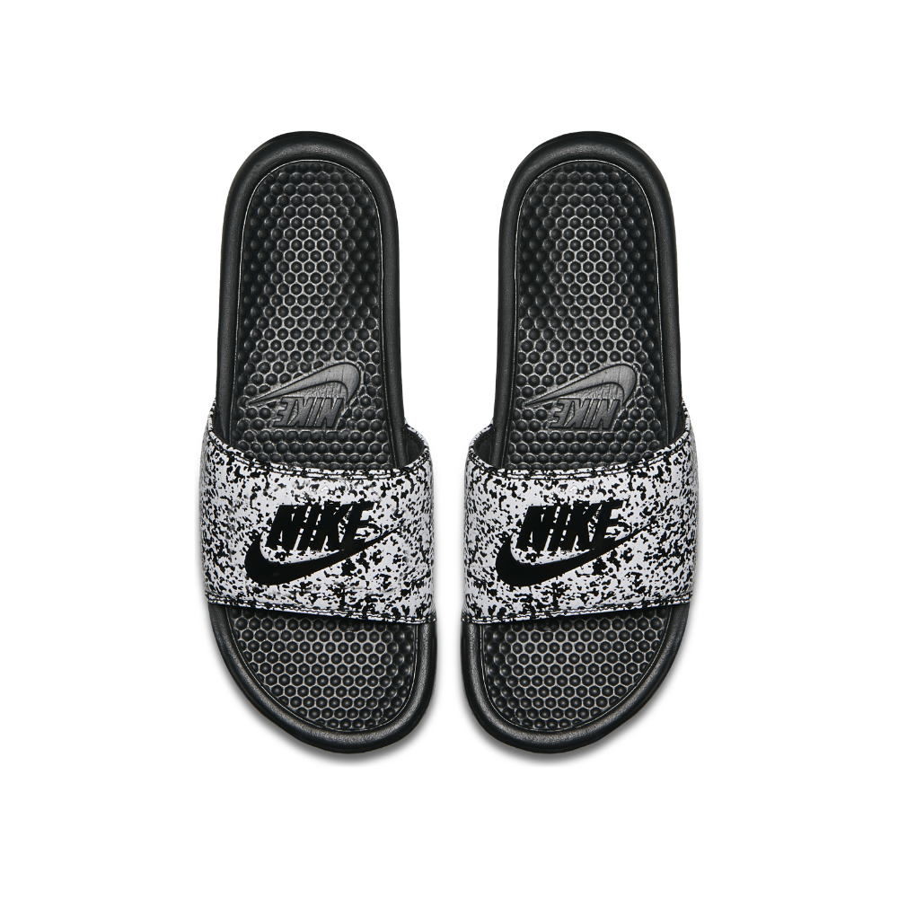bc84b7337 Nike Benassi Just Do It Print Men s Slide Sandal Size 9 (Black ...