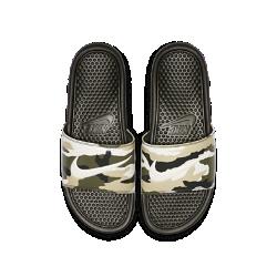 <ナイキ(NIKE)公式ストア>ナイキ ベナッシ JDI プリンテッド メンズスライド 631261-301 オリーブ★30日間返品無料 / Nike+メンバー送料無料!画像