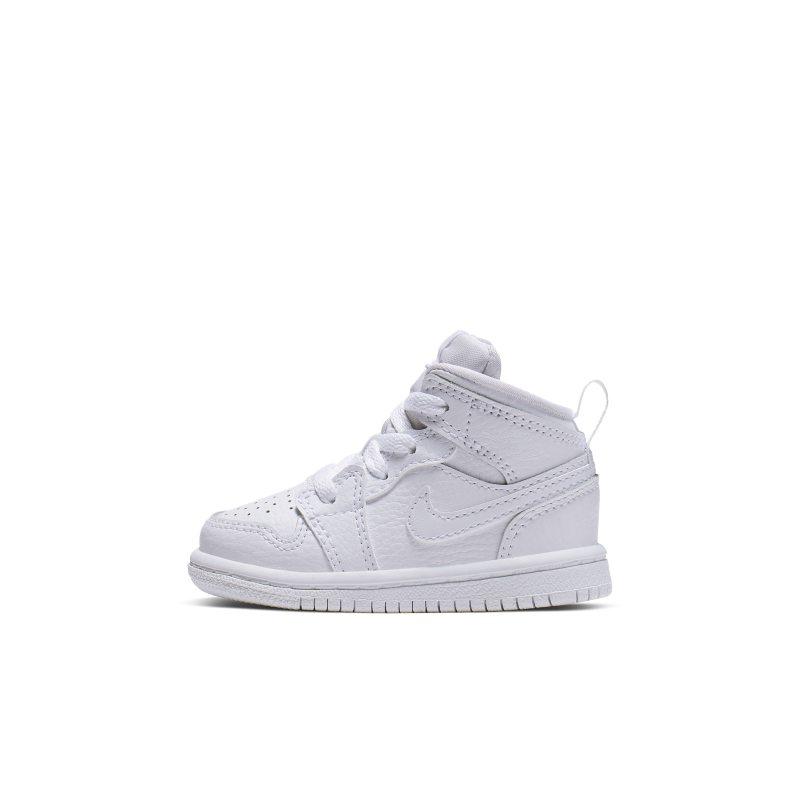 hot sale online c2732 a5aa3 Sko Air Jordan 1 Mid för baby små barn - Vit