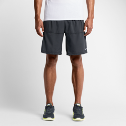 Мужские беговые шорты Nike Flex 23 смМужские шорты для бега Nike Flex 23 см из влагоотводящей ткани с подкладкой обеспечивают комфорт и поддержку от старта до финиша.<br>