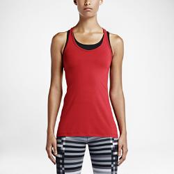 Женский топ для тренинга Nike Get FitЖенский топ для тренинга Nike Get Fit выполнен из влагоотводящей ткани. Свободная посадка и Т-образная спина обеспечивают комфортную температуру и свободу движений во время тренировки.<br>