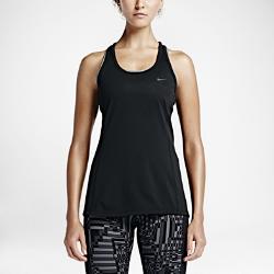 Женская майка для бега Nike Dry ContourЖенская майка для бега Nike Dry Contour обеспечивает комфорт в теплую погоду благодаря воздухопроницаемой влагоотводящей ткани там, где это необходимо.<br>