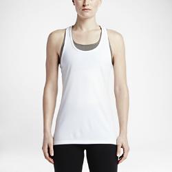 Женская майка для тренинга Nike DryЖенская майка для тренинга Nike Dry из влагоотводящей ткани с Т-образной спиной обеспечивает вентиляцию и свободу движений на каждой тренировке.<br>