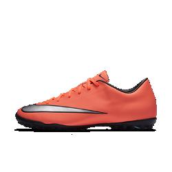 Футбольные бутсы для игры на газоне Nike Mercurial Victory VФутбольные бутсы для игры на газоне Nike Mercurial Victory V обеспечивают взрывную скорость. Инжектированные шипы быстро погружаются в поверхность и извлекаются из нее, позволяя молниеносно перемещаться по полю с любым видом газона.<br>