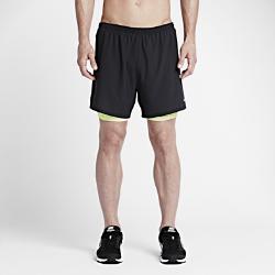 Мужские шорты для бега Nike Flex Phenom 2-in-1 12,5 смМужские шорты для бега Nike Flex Phenom 2-in-1 12,5 см из влагоотводящей ткани с перфорацией обеспечивают воздухопроницаемость и комфорт. Эластичные внутренние шорты пришитык поясу для дополнительной поддержки и свободы движений.<br>