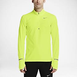 Мужская беговая футболка с длинным рукавом Nike Dry ElementМужская беговая футболка с длинным рукавом Nike Dry Element из влагоотводящей ткани обеспечивает комфорт, а молния до середины груди позволяет регулировать степень защиты.  Комфорт и защита от влаги  Ткань Nike Dry отводит влагу от кожи на поверхность ткани, где она быстро испаряется.  Регулируемое охлаждение  Молния до середины груди позволяет регулировать степень защиты, обеспечивая прохладу.  Надежная посадка  Манжеты с отверстиями для больших пальцев фиксируют рукава.<br>