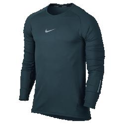 Мужская футболка для бега с длинным рукавом Nike AeroReactМужская футболка для бега с длинным рукавом Nike AeroReact из революционно новой воздухопроницаемой ткани, которая реагирует на уровень потоотделения, регулирует температуру тела на протяжении всей пробежки.<br>