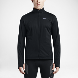 Мужская беговая куртка Nike ShieldМужская беговая куртка Nike Shield с легким внутренним слоем из сетки удерживает тепло тела, обеспечивая комфорт в холодную погоду и помогая избежать перегрева. Прочноеводоотталкивающее покрытие DWR защищает от дождя и ветра.<br>