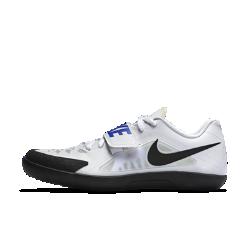 Шиповки унисекс для метания Nike Zoom Rival SD 2Шиповки унисекс для метания Nike Zoom Rival SD 2 созданы для начинающих метателей. Регулируемый ремешок в средней части стопы и подошва из материала EVA обеспечивают поддержку и амортизацию. Эти легкие кроссовки повторяют форму стопы, обеспечивая усиленную фиксацию и устойчивость — идеально для выполнения вращений и скольжений.<br>