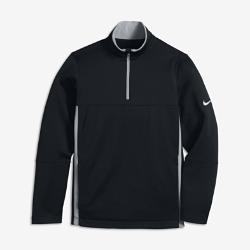Футболка для гольфа с длинным рукавом для мальчиков школьного возраста Nike Thermal Half-Zip 2.0Футболка для гольфа с длинным рукавом для мальчиков школьного возраста Nike Thermal Half-Zip 2.0 из ткани Therma-FIT с начесом и боковыми вставками обеспечивает естественную свободу движений и комфорт в прохладную погоду.<br>