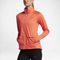 Женская беговая куртка Nike ShieldЖенская беговая куртка Nike Shield с легким внутренним слоем из сетки удерживает тепло тела, обеспечивая комфорт в холодную погоду и помогая избежать перегрева. Прочноеводоотталкивающее покрытие DWR защищает от дождя и ветра.<br>