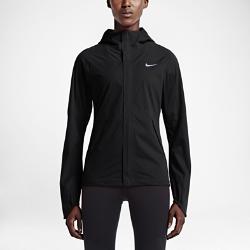 Женская куртка для бега Nike ShieldrunnerЖенская куртка для бега Nike Shieldrunner с козырьком на капюшоне изготовлена из ткани Storm-FIT 5 для комфорта и защиты от стихии. Молнии в области подмышек позволяют телу дышать, а эргономичный крой не сковывает движений.<br>