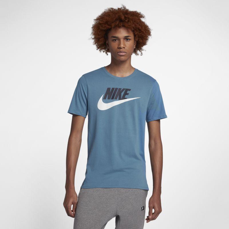 Nike Sportswear Men's Logo T-Shirt - Blue Image