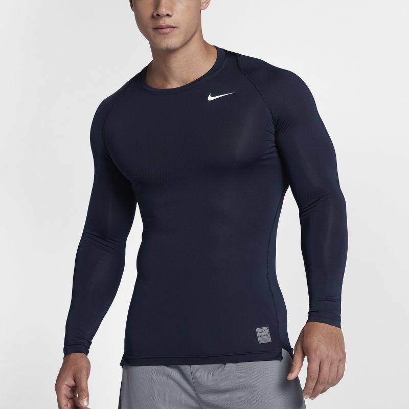 Nike Pro Men's Long-Sleeve Training Top - Blue Image