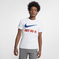 Мужская футболка Nike Just Do It SwooshМужская футболка Nike Just Do It Swoosh из прочного и мягкого хлопка обеспечивает комфорт на каждый день.<br>